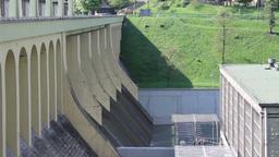 Hydro power dam. Poland Live Action