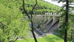 "Hydro power dam ""Porabka"" in Poland Live Action"
