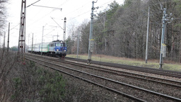 Express intercity train in Poland Live Action