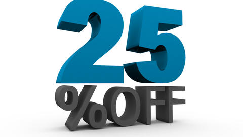 Twenty five Percent Off (25%off) Stock Video Footage