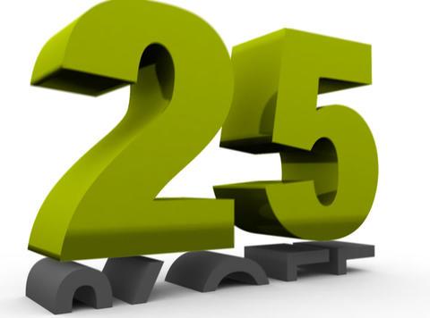 Twenty five Percent Off (25%off) Stock Video Footage