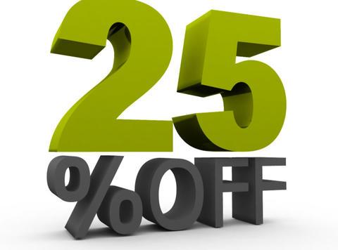 Twenty five Percent Off (25%off) Animation