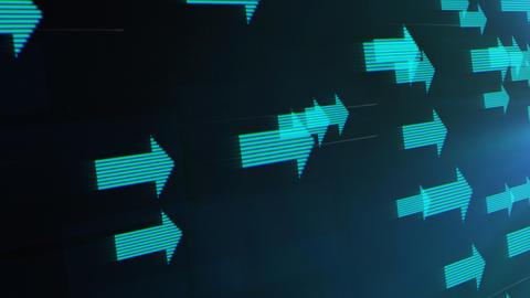 Flying arrows loop Stock Video Footage