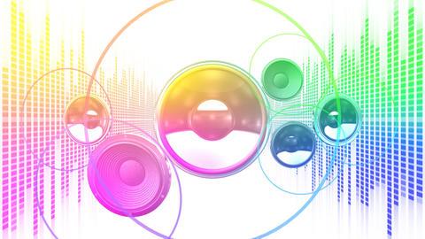 Speaker Equalizer P2MF4 Stock Video Footage