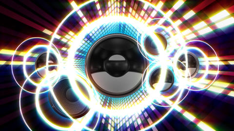 Speaker Equalizer SFF2 Stock Video Footage