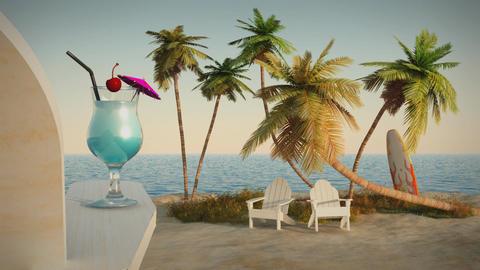 (1191) Romantic Tropical Beach Ocean Getaway Escape... Stock Video Footage