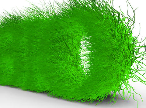 Bio. Letters with grass on it Stock Video Footage