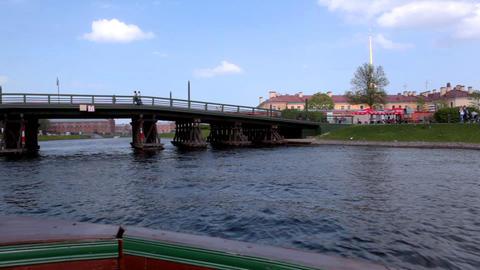 4331 Glide Under Bridge HD Footage
