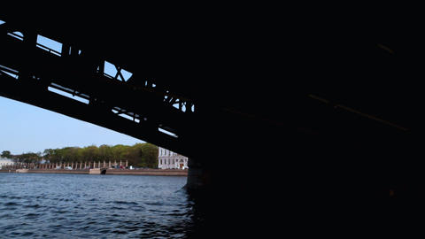 4337 SP Channel Out Bridge02 HD Stock Video Footage