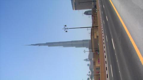 VERTICAL burj Khalifa Dubai wide Stock Video Footage