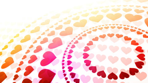 Rainbow Hearts Background Stock Video Footage
