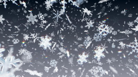Snow Flake Amix3 Stock Video Footage
