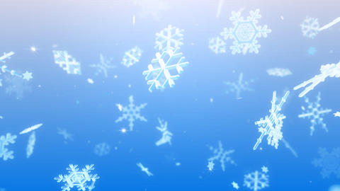 Snow Flake BL1 Stock Video Footage