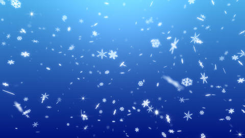 Snow Flake BS2 Stock Video Footage