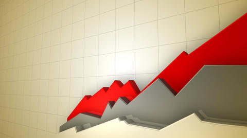 Animated 3D Chart HD Stock Video Footage