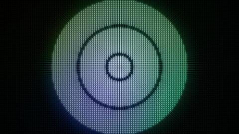 Dotty Radial Lights HD Loop Stock Video Footage