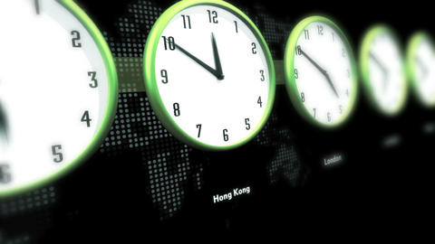 Global Time Clocks Stock Video Footage