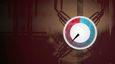 Pressure dial rising and falling Animation