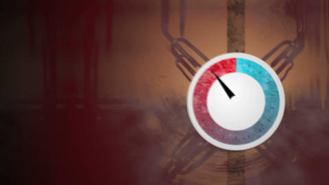 Pressure dial rising and falling Stock Video Footage