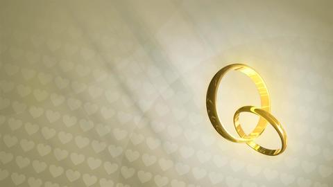 Wedding Rings HD Loop Animation
