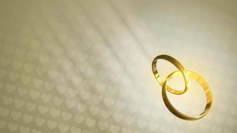 Wedding Rings HD Loop Stock Video Footage