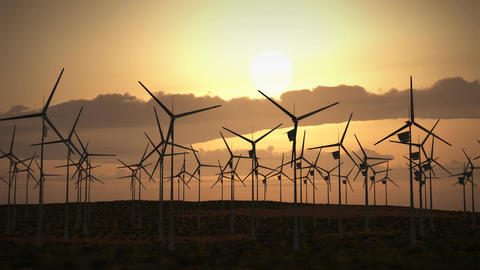 1194 HDjpg Wind Turbines Farm Alternative Energy Power... Stock Video Footage