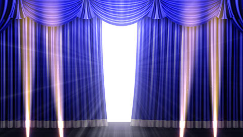 Stage Curtain 2 Fbs1 Stock Video Footage