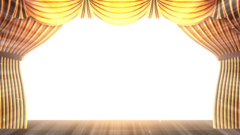 Stage Curtain 2 Fg2 Stock Video Footage