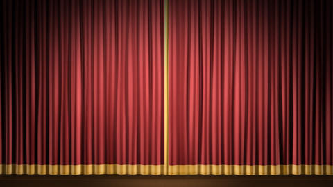 Stage Curtain 2 Fr1 Stock Video Footage