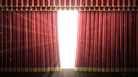 Stage Curtain 2 Fr2 Stock Video Footage