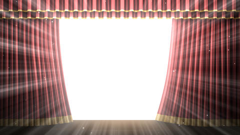 Stage Curtain 2 Frc1 Stock Video Footage