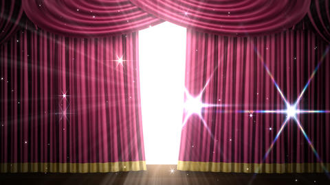 Stage Curtain 2 Frf1 Stock Video Footage