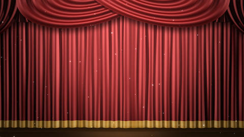 Stage Curtain 2 Fri2 HD Stock Video Footage