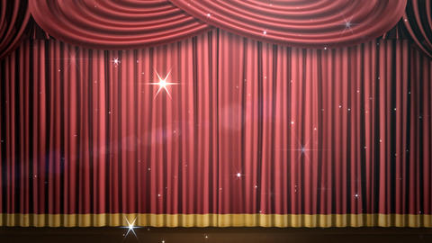 Stage Curtain 2 Fri2 HD CG動画素材