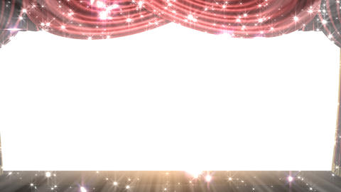 Stage Curtain 2 Frk1 Stock Video Footage