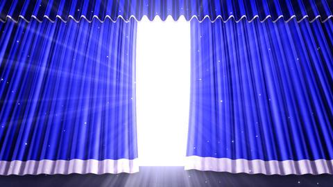 Stage Curtain 2 Ub1 Stock Video Footage