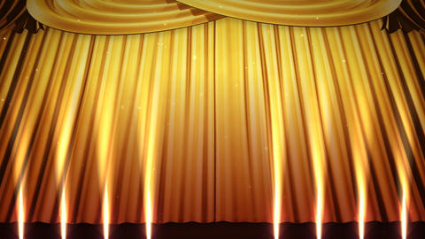 Stage Curtain 2 Ugs1 Stock Video Footage