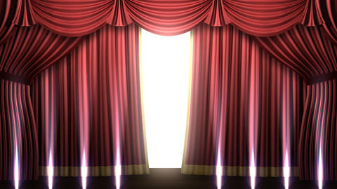 Stage Curtain 2 Frs2 Stock Video Footage