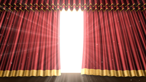 Stage Curtain 2 Ur2 Stock Video Footage