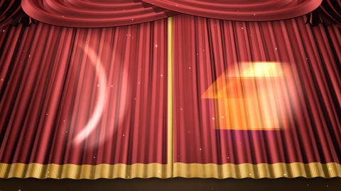 Stage Curtain 2 Urc1 Stock Video Footage