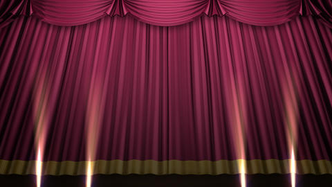 Stage Curtain 2 Urs1 CG動画素材