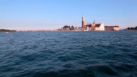 View on San Marco from open sea Footage