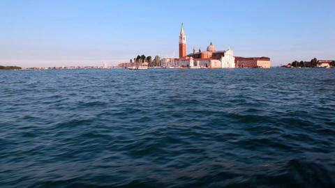View on San Marco from open sea Stock Video Footage