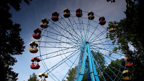 ferris wheel rotation time lapse Stock Video Footage