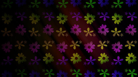 Flower Icons Loop Stock Video Footage
