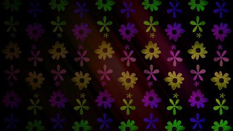 Flower Icons Loop Stock Video Footage