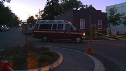 HD2008-8-1-3 Fire scene early dawn Footage