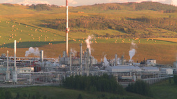 HD2008 8 1 17 gas plant and flare Footage