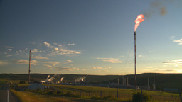 HD2008-8-1-27 gas flare and plant Stock Video Footage
