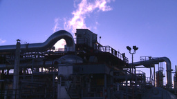HD2008-8-1-39 gas plant Stock Video Footage